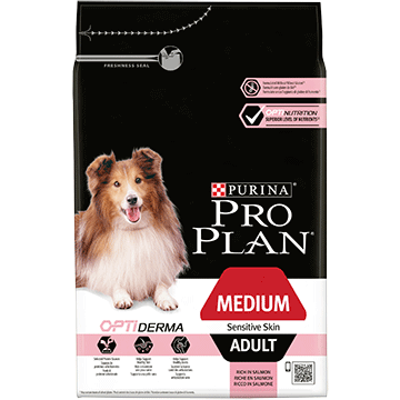 PURINA® PRO PLAN® Medium Adult Sensitive Skin with OPTIDERMA® Rich in salmon