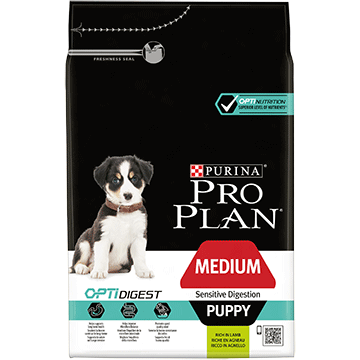 ​PURINA® PRO PLAN® Medium Puppy Sensitive Digestion with OPTIDIGEST® Rich in lamb