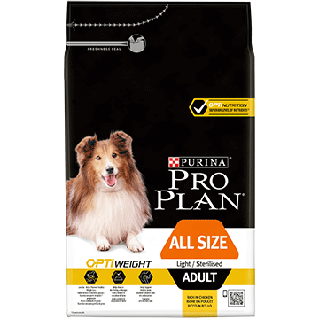 ​PURINA® PRO PLAN® All Sizes Adult Light/Sterilised with OPTIWEIGHT® Rich in chicken